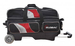 900 GLOBAL 3-BALL DELUXE ROLLER BLACK/RED/SILVER