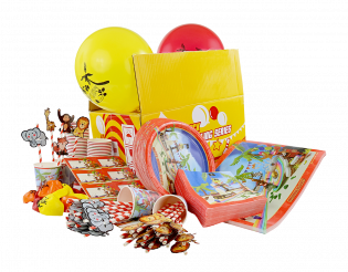 PARTY PACK TROPICAL BOWLING FESTIVAL (100 PCS)
