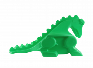 DRAGON BOWLING BALL RAMP NEON GLOW GREEN