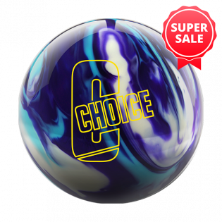 EBONITE CHOICE PEARL AQUA/VIOLET/WHITE