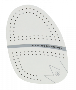 Brunswick SP-6 Perforated White Microfiber Replacement Slide Sole